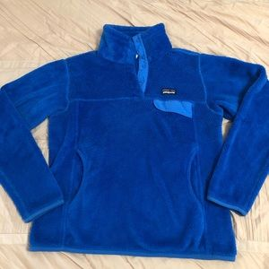 Blue Patagonia Snap Fleece Pullover